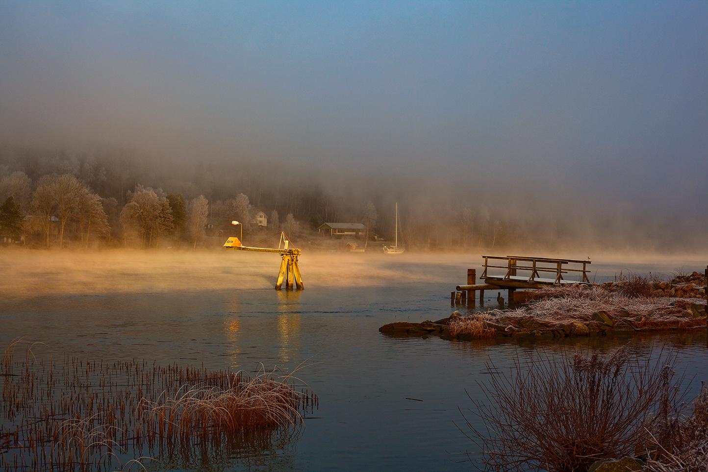 Vintermorgon Göta älv.